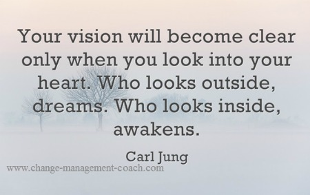 Your vision will become clear only when you look into your heart. Carl Jung