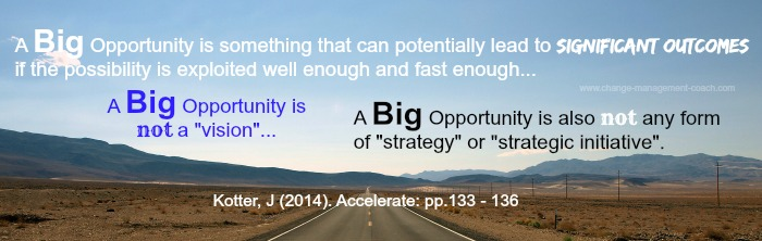 John Kotter: quotes about the Big Opportunity