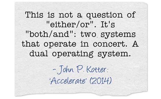 John Kotter: This is not a question of 'either/or'. It's 'both/and'.