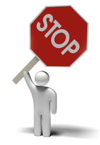 resistance to change stop sign